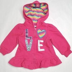 Love Rainbow Zip Up Hoodie